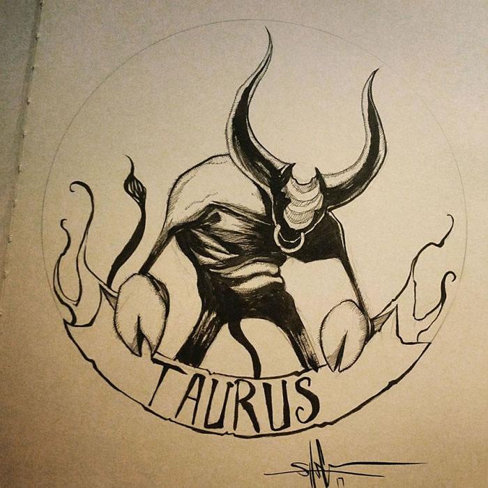 "Illustrations - Les Signes du zodiaque version ""Dark"" par Shawn Coss 7"