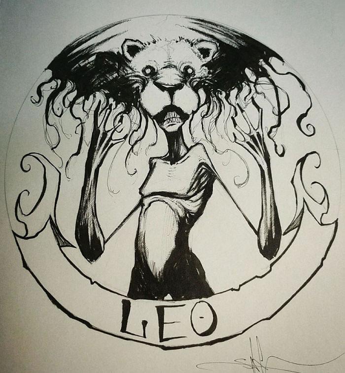 "Illustrations - Les Signes du zodiaque version ""Dark"" par Shawn Coss 8"