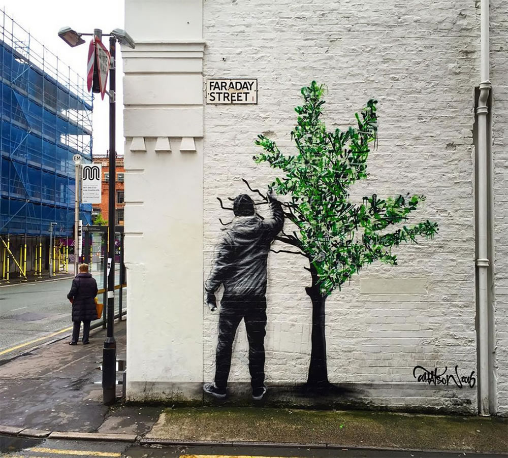 Mashup entre l'Art et StreetArt (Graffiti) - Le combo gagnant de créativité par Martin Whatson 5