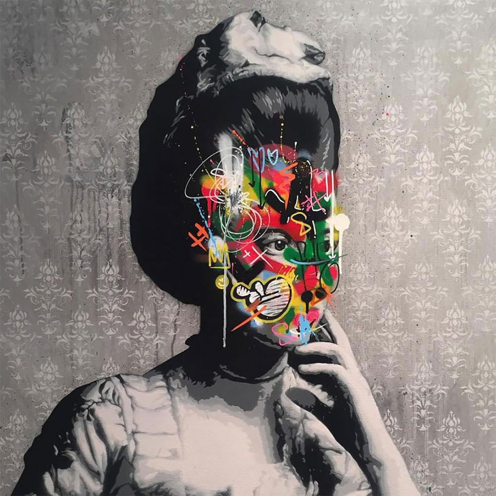 Mashup entre l'Art et StreetArt (Graffiti) - Le combo gagnant de créativité par Martin Whatson 3