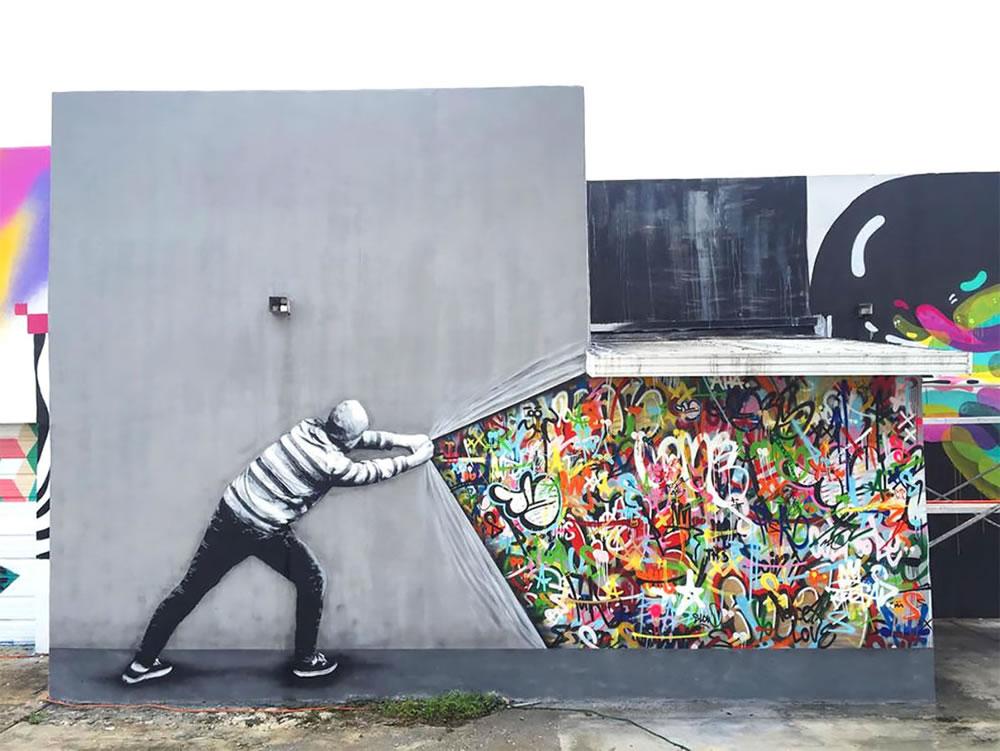Mashup entre l'Art et StreetArt (Graffiti) - Le combo gagnant de créativité par Martin Whatson 2