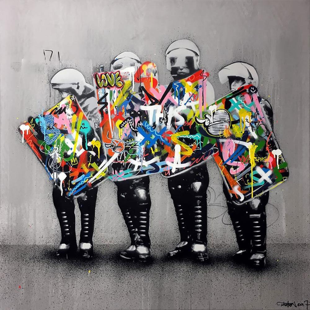 Mashup entre l'Art et StreetArt (Graffiti) - Le combo gagnant de créativité par Martin Whatson 13