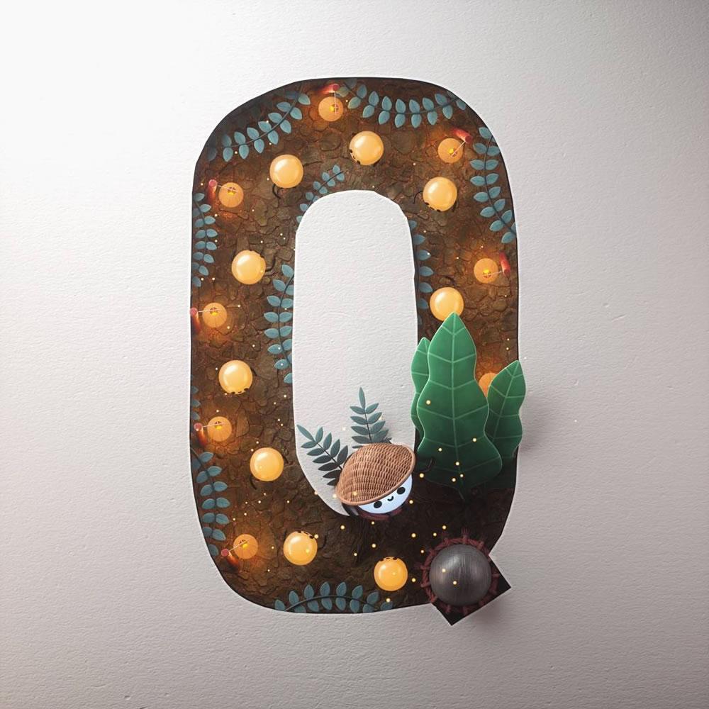 Magnifiques lettres de typographie de l'alphabet par Luke Doyle 27