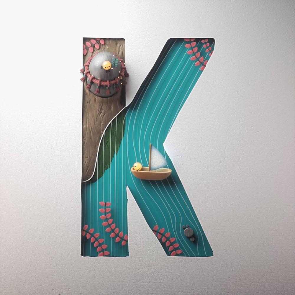 Magnifiques lettres de typographie de l'alphabet par Luke Doyle 23