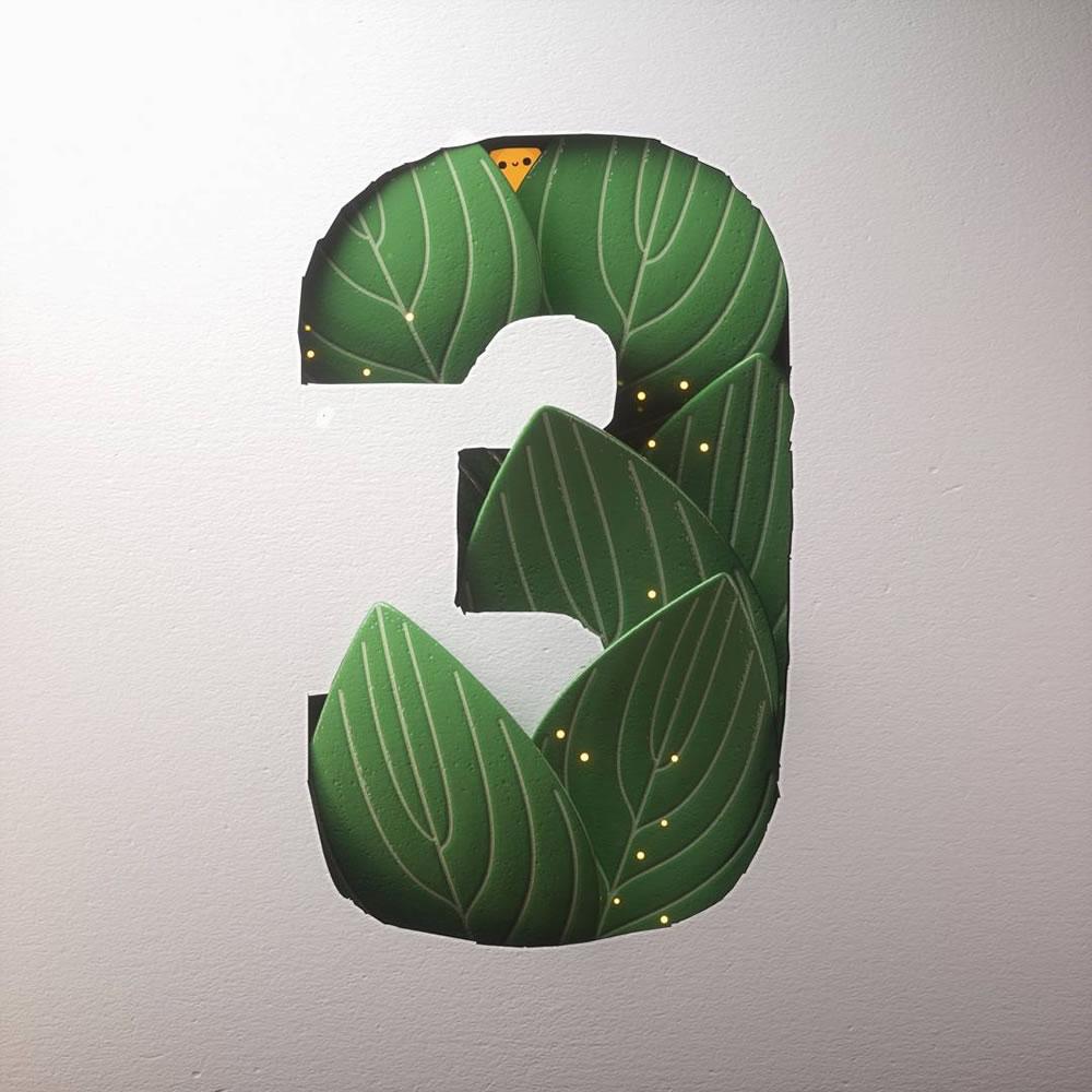 Magnifiques lettres de typographie de l'alphabet par Luke Doyle 17