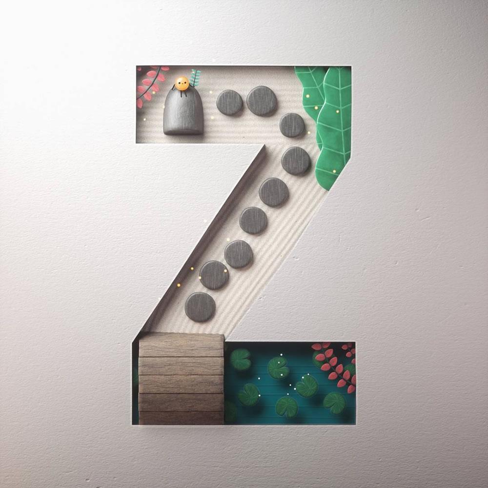 Magnifiques lettres de typographie de l'alphabet par Luke Doyle 15
