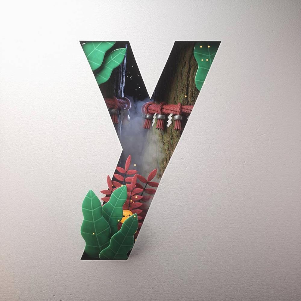 Magnifiques lettres de typographie de l'alphabet par Luke Doyle 11