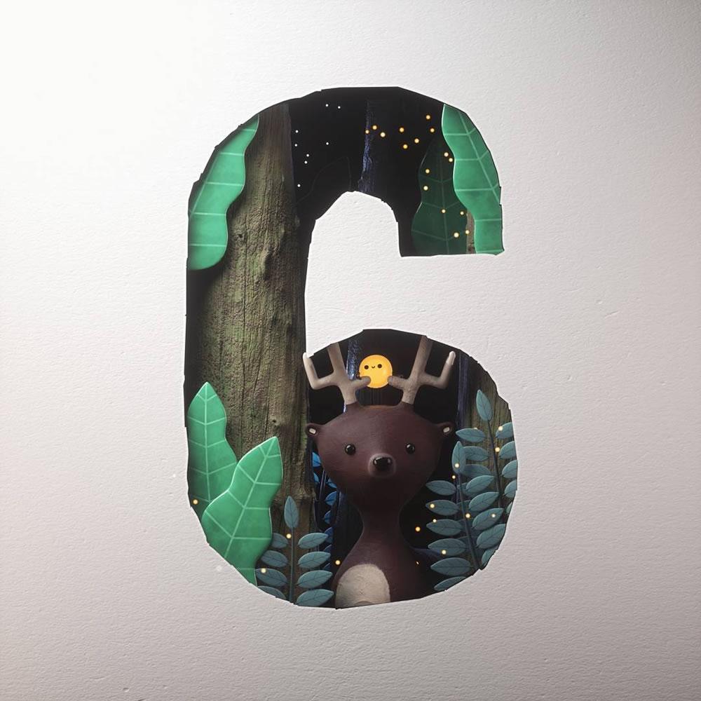 Magnifiques lettres de typographie de l'alphabet par Luke Doyle 7
