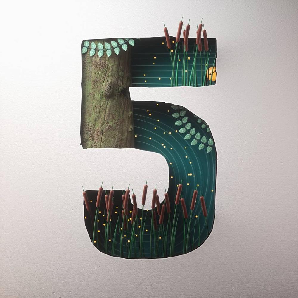 Magnifiques lettres de typographie de l'alphabet par Luke Doyle 8