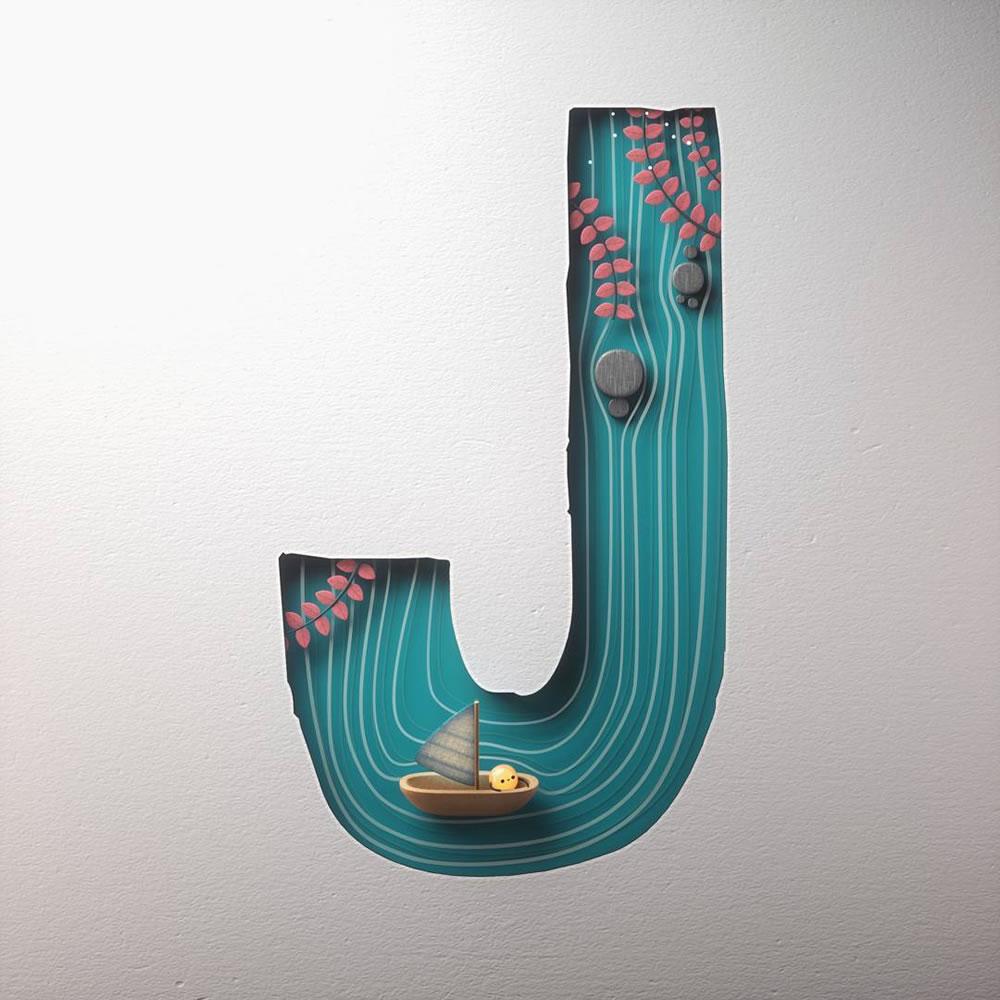 Magnifiques lettres de typographie de l'alphabet par Luke Doyle 33
