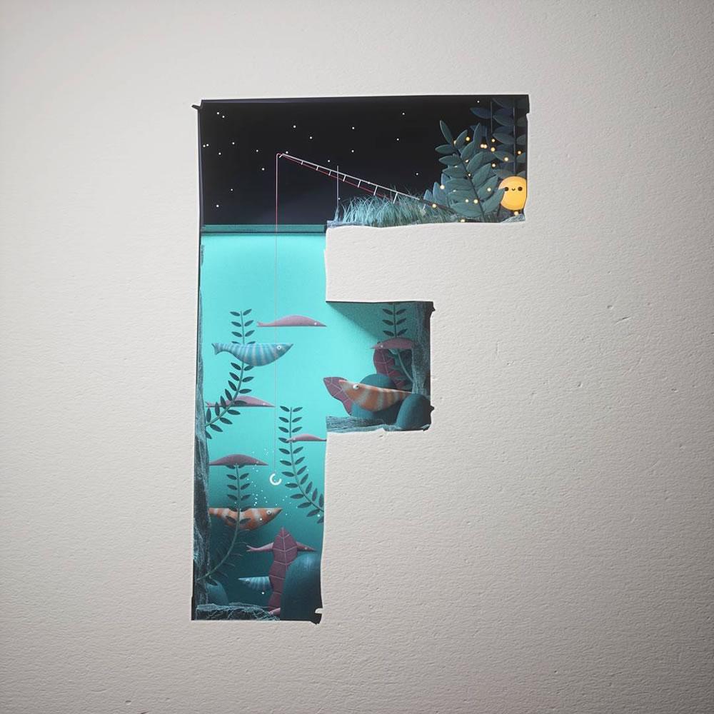 Magnifiques lettres de typographie de l'alphabet par Luke Doyle 31