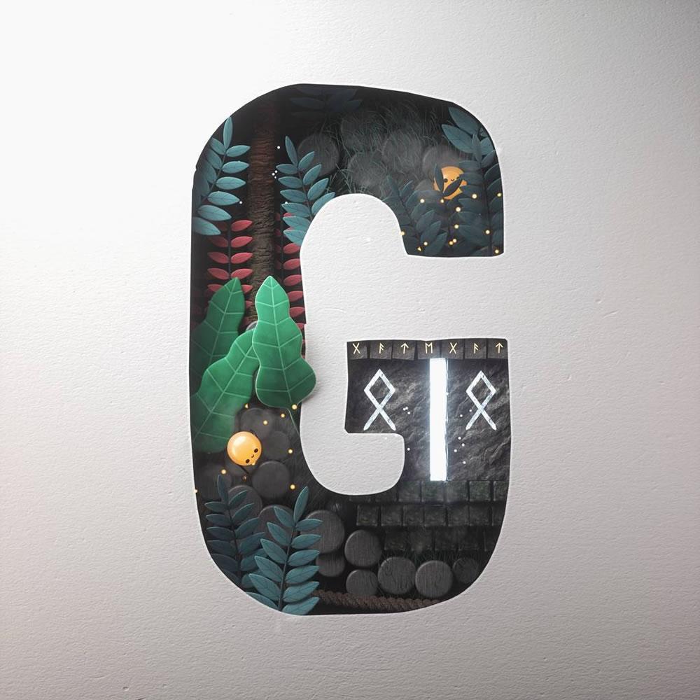Magnifiques lettres de typographie de l'alphabet par Luke Doyle 29