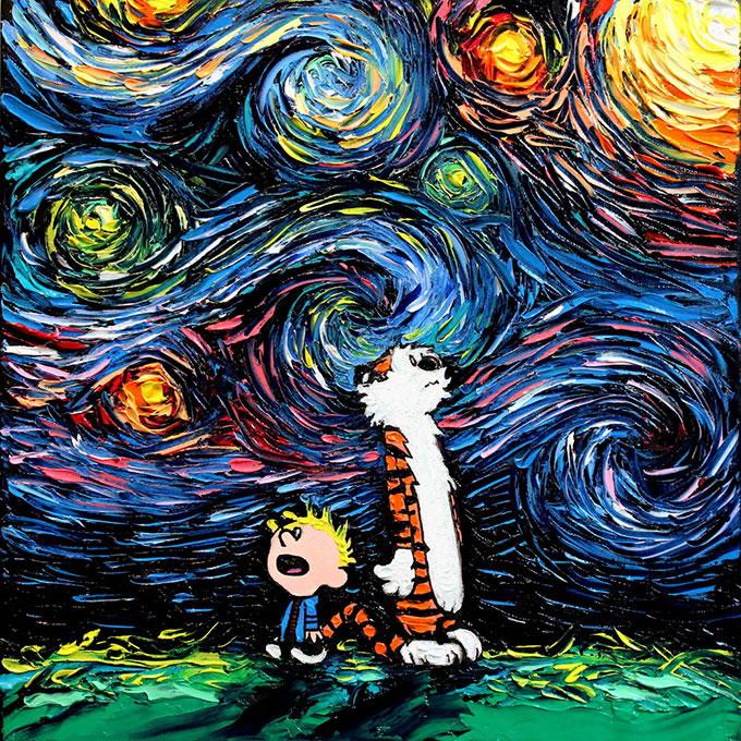Peinture - Le mélange parfait entre Van Gogh et la POP Culture 6