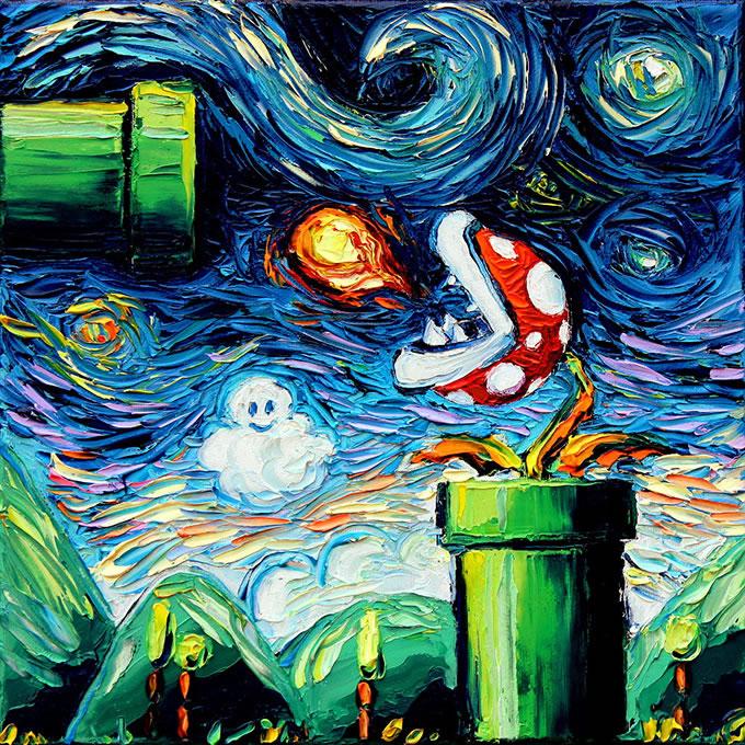 Peinture - Le mélange parfait entre Van Gogh et la POP Culture 7