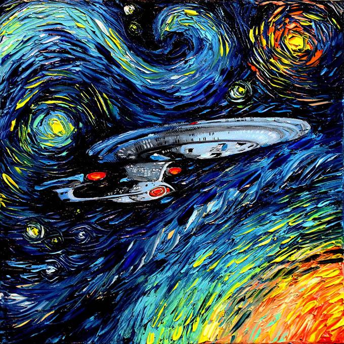 Peinture - Le mélange parfait entre Van Gogh et la POP Culture 8