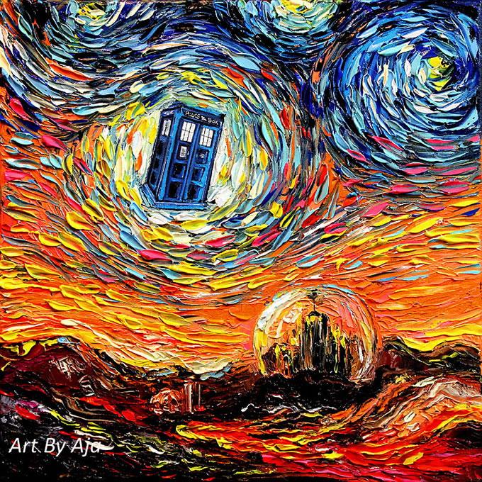 Peinture - Le mélange parfait entre Van Gogh et la POP Culture 10