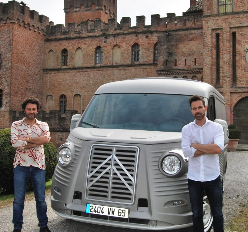 Citroen-H-Van avec Fabrizio Caselani et David Obendorfer