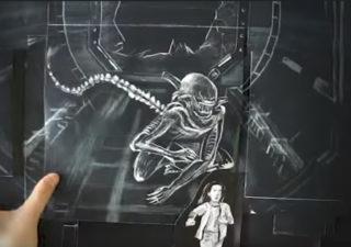 Animation Flipbook Alien Covenant - Quand le monstre prend vie
