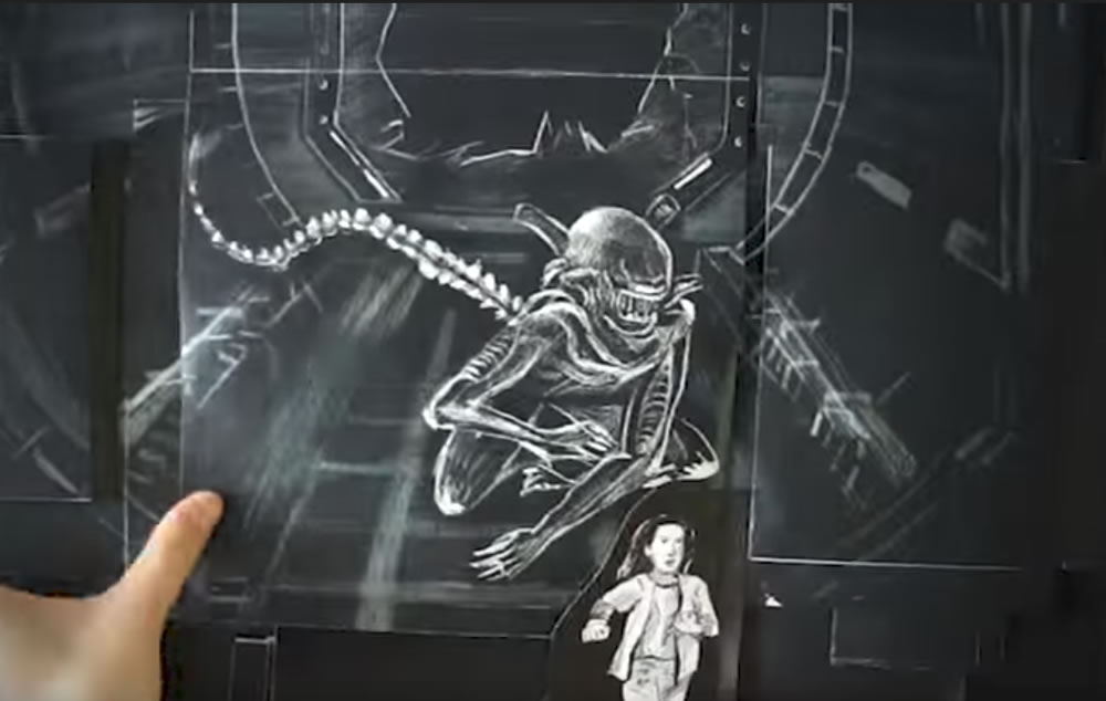 Animation Flipbook Alien Covenant - Quand le monstre prend vie