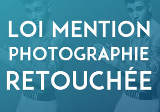 LOI : Mention « photographie retouchée » sur les photographies à usage commercial