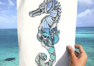 Les découpes papiers d'animaux prennent forme sur de vrais paysages