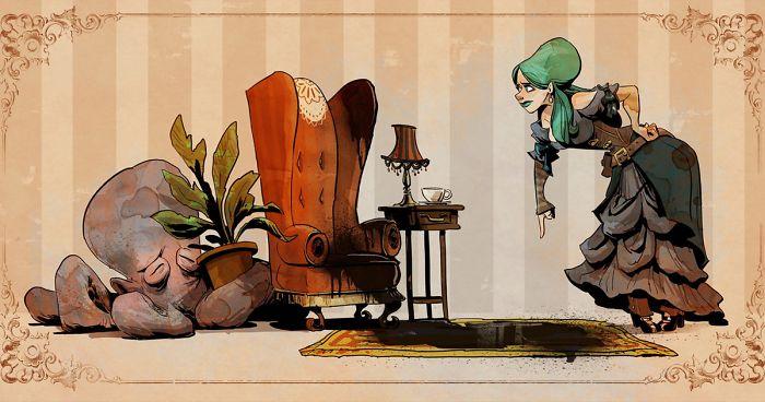 L'illustrateur de chez Disney imagine un monde avec une pieuvre trop mignonne 12