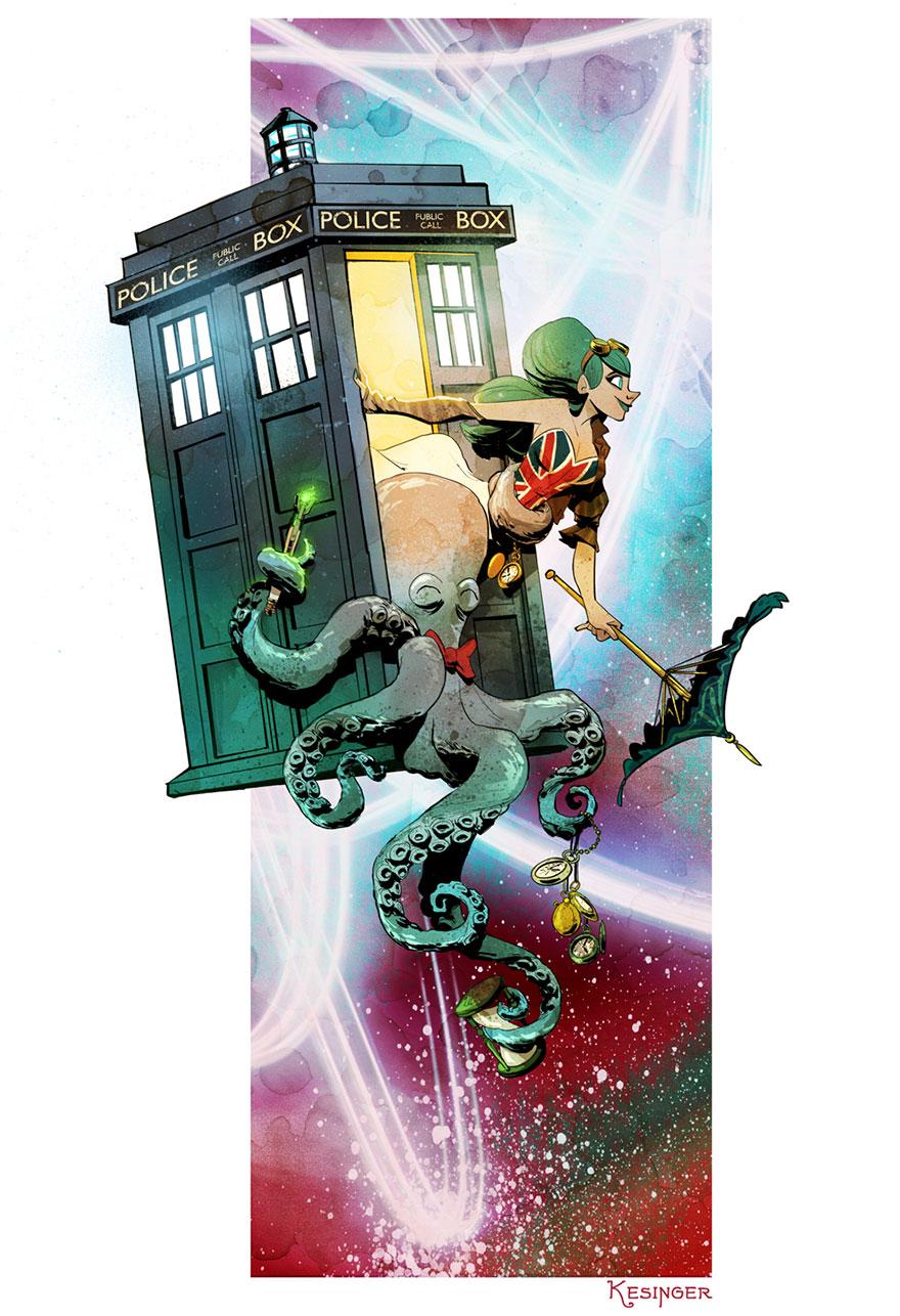 L'illustrateur de chez Disney imagine un monde avec une pieuvre trop mignonne 8