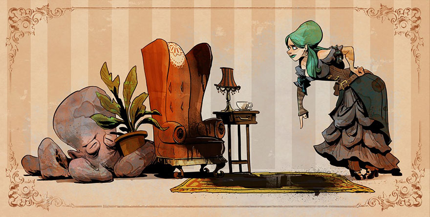 L'illustrateur de chez Disney imagine un monde avec une pieuvre trop mignonne 9