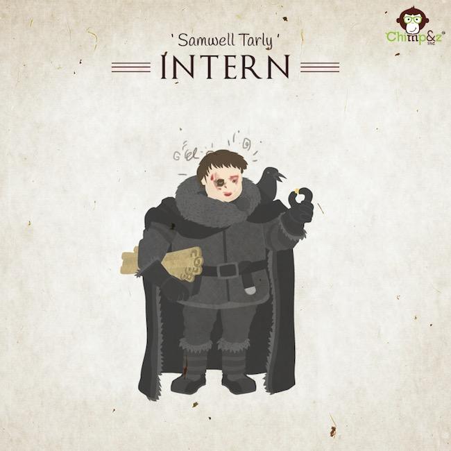 Les postes des personnages de Game of Thrones dans une agence de pub 13