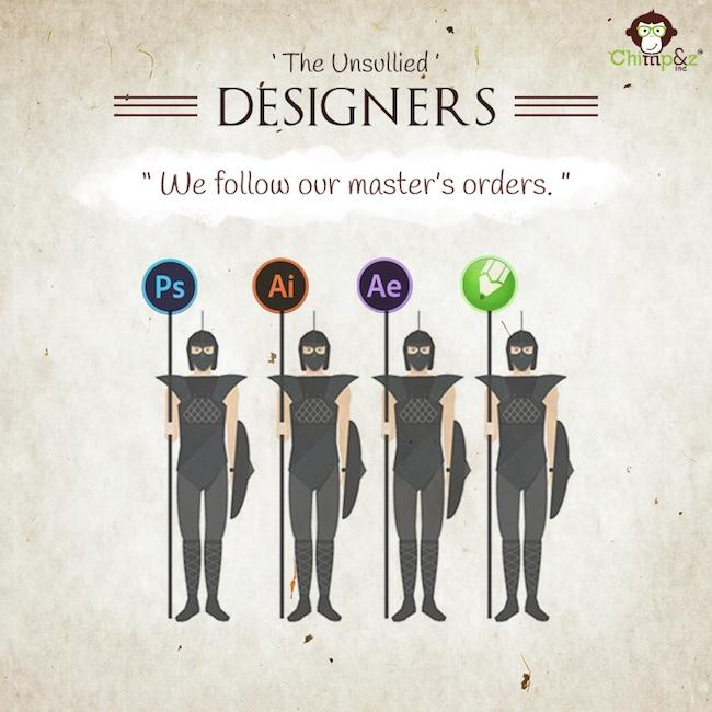 Les postes des personnages de Game of Thrones dans une agence de pub 14