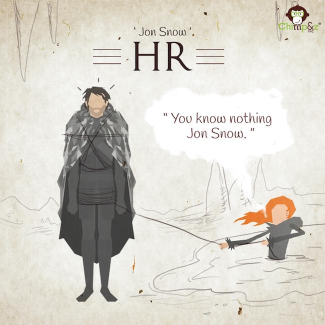 Les postes des personnages de Game of Thrones dans une agence de pub 6