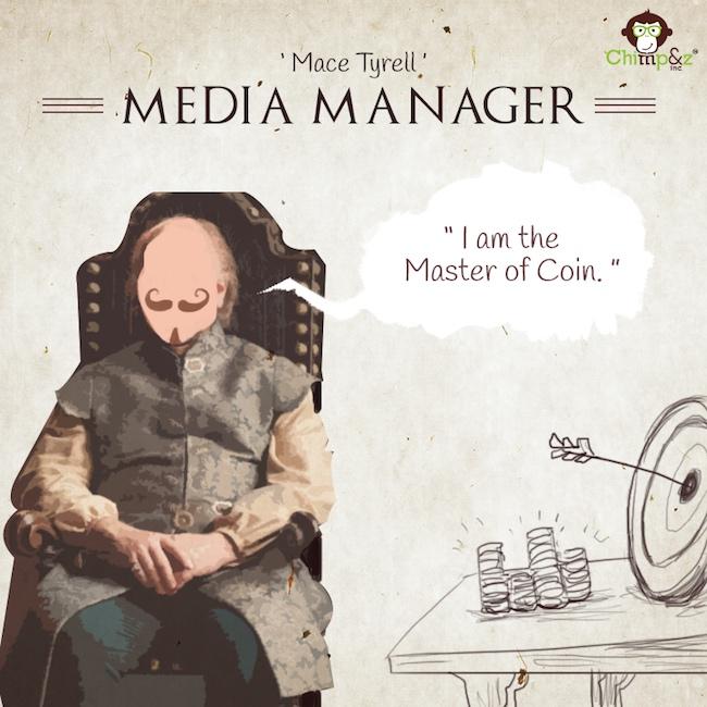 Les postes des personnages de Game of Thrones dans une agence de pub 9