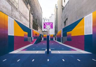 Street-art : Un terrain de Basket magnifique à Paris 1