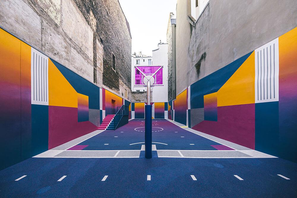 Street-art : Un terrain de Basket magnifique à Paris 2