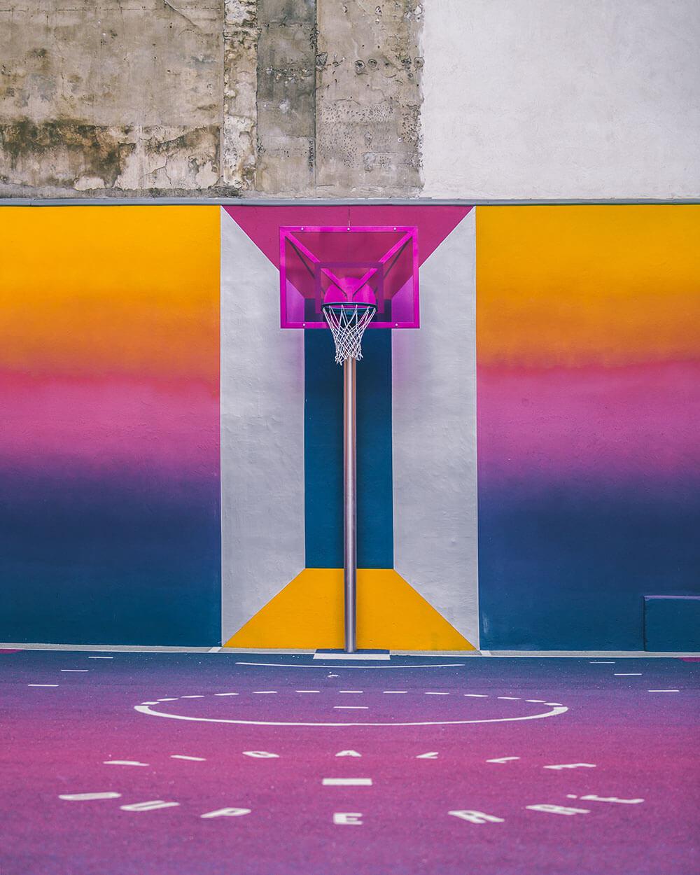 Street-art : Un terrain de Basket magnifique à Paris 3