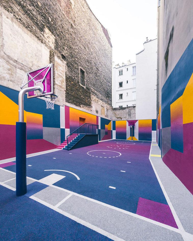 Street-art : Un terrain de Basket magnifique à Paris 4