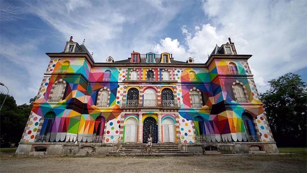 StreetArt – Une peinture géante sur le Château de La Valette de Pressigny-les-Pins