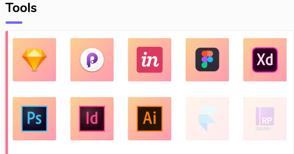 raccouris clavier logiciels de Design