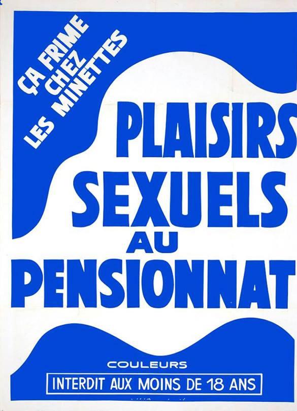 [NSFW] Les affiches typographiques des films Porno des années 70 12