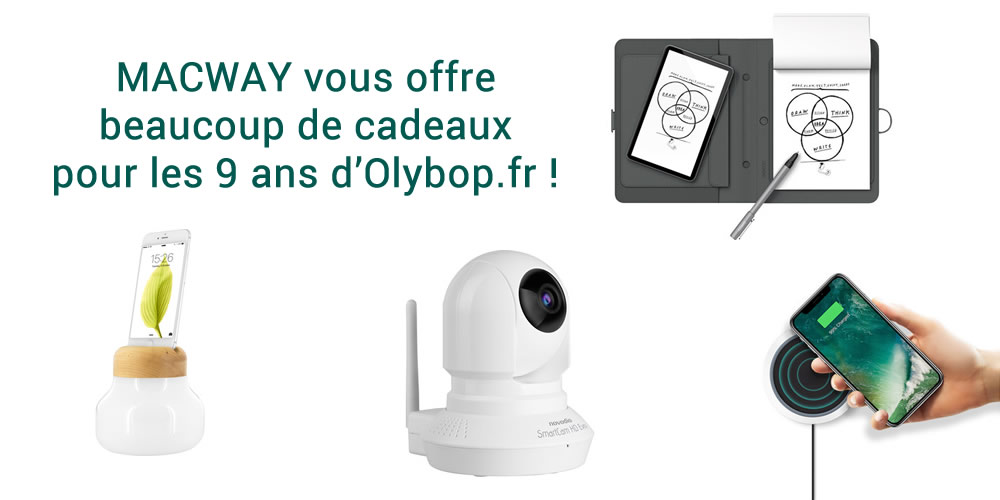 [Concours 9 ans Olybop] Gagnez caméra IP, wacom Bamboo, bulb et qi charger ! 2