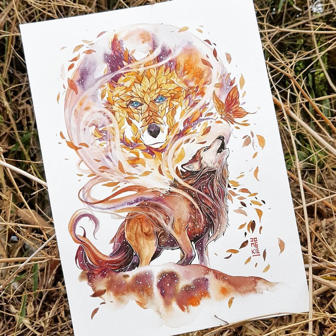 [Aquarelles] Les illustrations d'animaux magnifiquement colorées de Jongkie 10