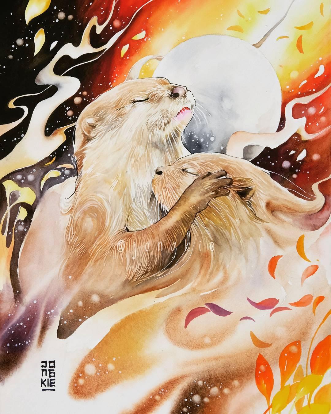 [Aquarelles] Les illustrations d'animaux magnifiquement colorées de Jongkie 13