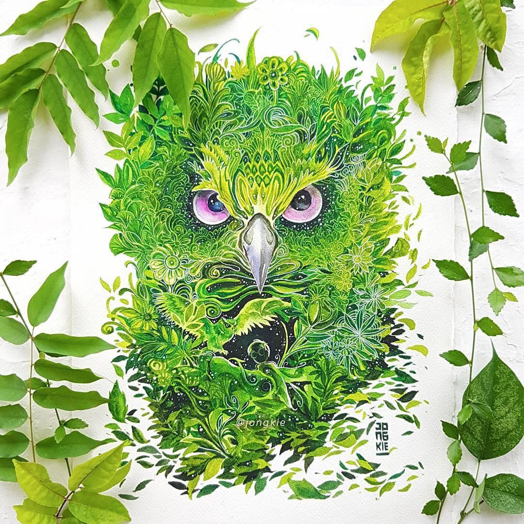 [Aquarelles] Les illustrations d'animaux magnifiquement colorées de Jongkie 2