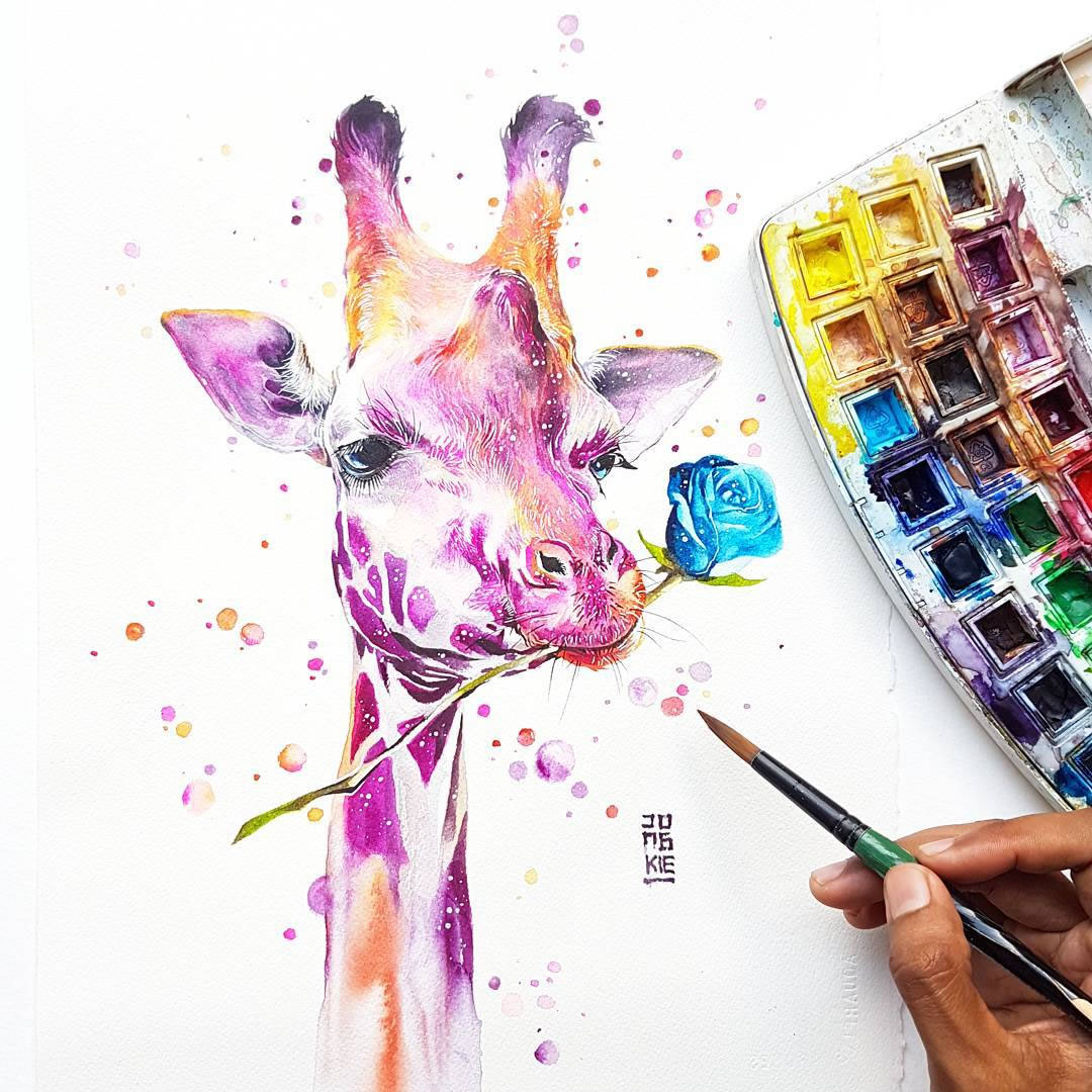 [Aquarelles] Les illustrations d'animaux magnifiquement colorées de Jongkie 17