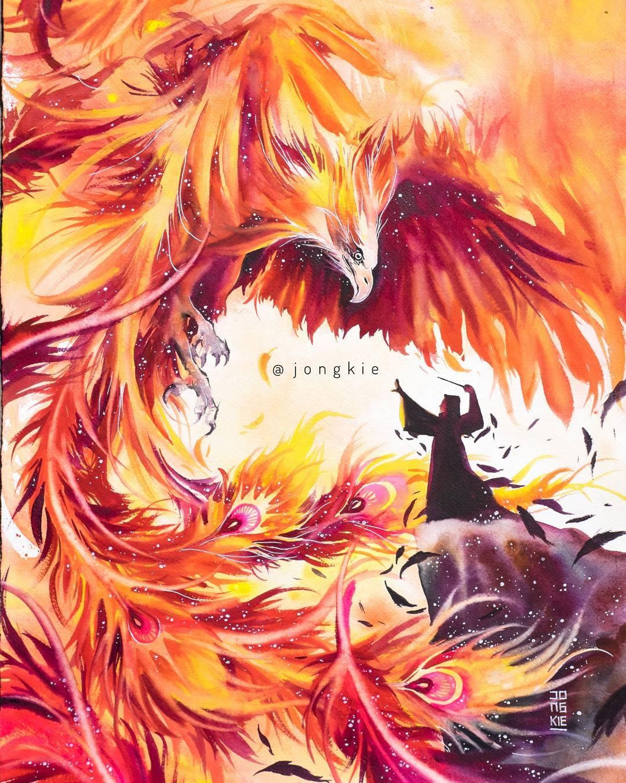 [Aquarelles] Les illustrations d'animaux magnifiquement colorées de Jongkie 3