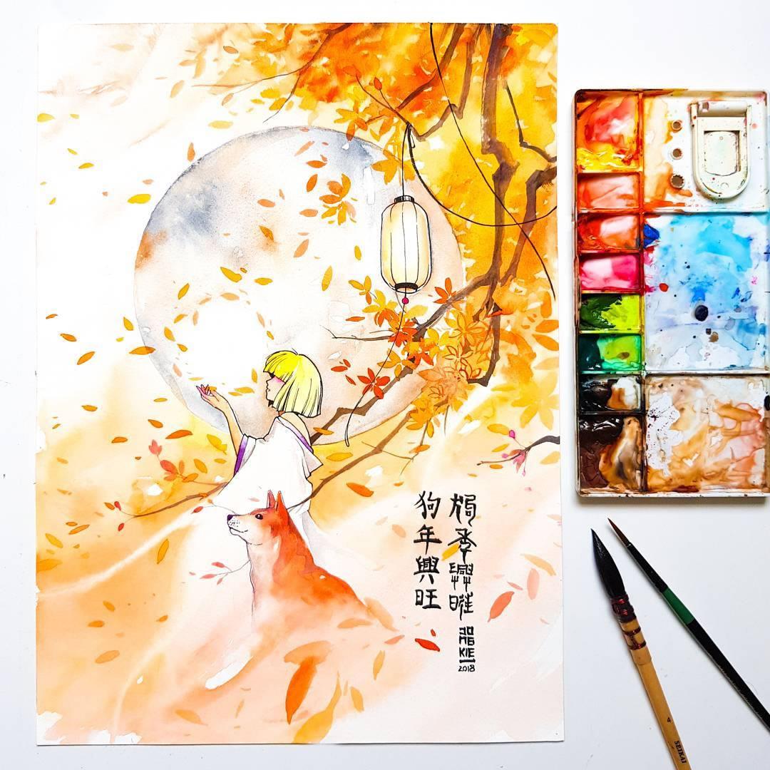 [Aquarelles] Les illustrations d'animaux magnifiquement colorées de Jongkie 19