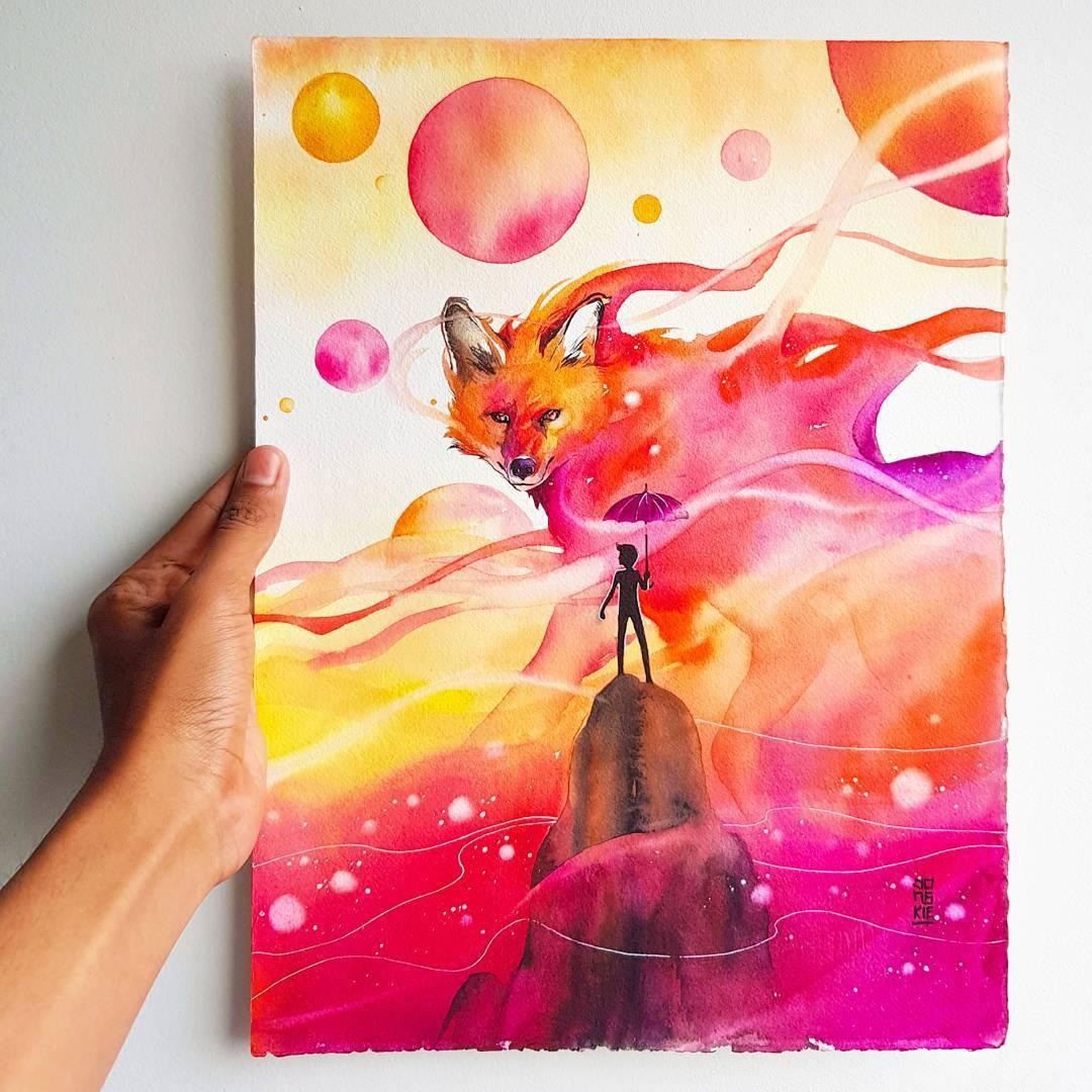 [Aquarelles] Les illustrations d'animaux magnifiquement colorées de Jongkie 22