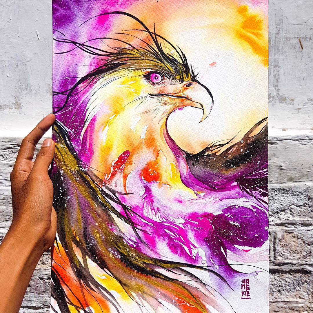 [Aquarelles] Les illustrations d'animaux magnifiquement colorées de Jongkie 4