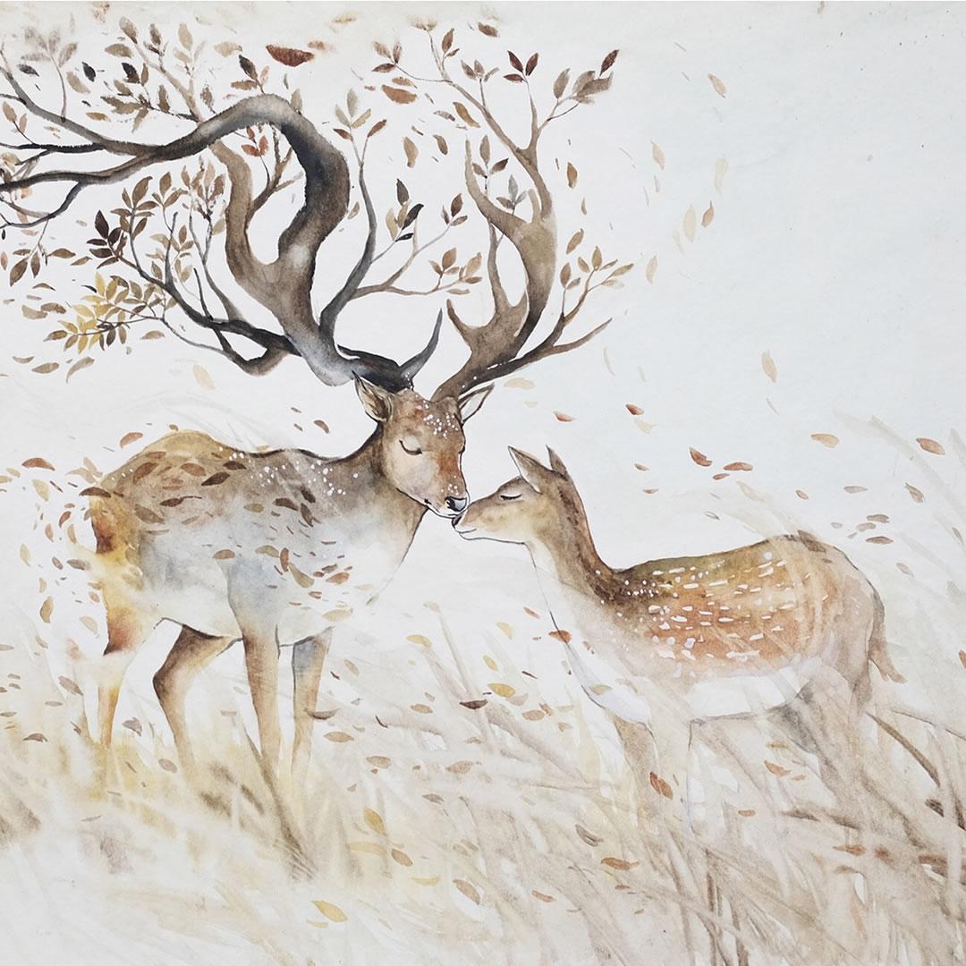 [Aquarelles] Les illustrations d'animaux magnifiquement colorées de Jongkie 25