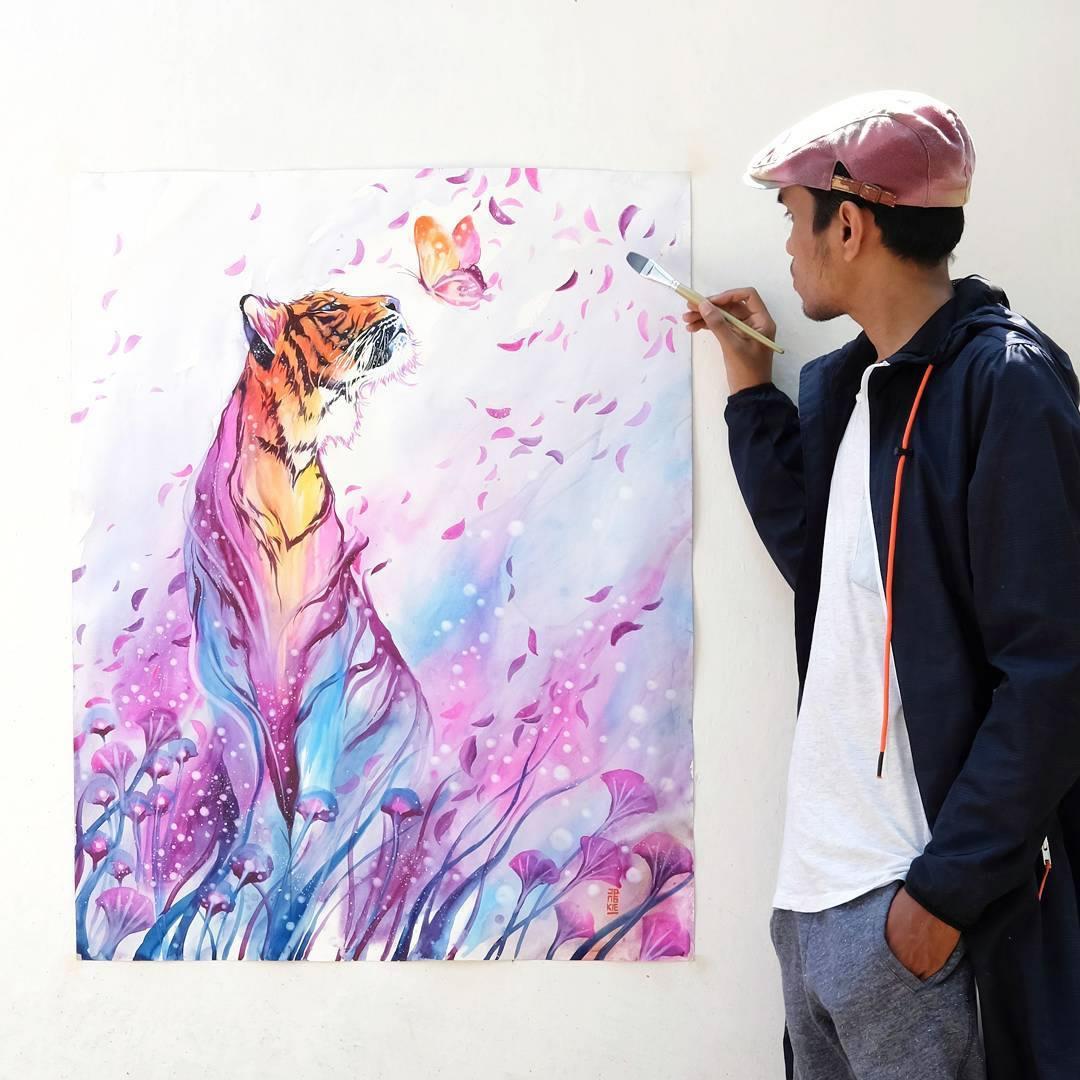 [Aquarelles] Les illustrations d'animaux magnifiquement colorées de Jongkie 26